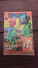 """VTG MEXICAN COMIC CHANOC #846 """"LOS ENANOS VERDES DE VENUS"""" SPACE MARTIANS PARODY"""