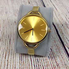 Women's Luxury Wrist Watch Stainless Steel Slim mesh Band Quartz Analog Gold