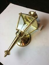 Modern reproduction brass exterior sconce- quantity available