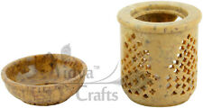 Hand Carved Stone Aroma Oil Diffuser burner Wax Tart Warmer Large Size
