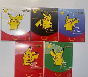2021 McDONALDS POKEMON CARDS HAPPY MEAL TOYS Lot of 5 Assorted