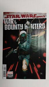 STAR WARS WAR OF THE BOUNTY HUNTERS ALPHA #1 1st Printing  Yu Variant   / Marvel