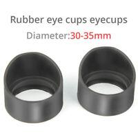 32-35mm Eye Shield Rubber Stereo Microscope Eyepiece Eye Guards Eye Cups 2 PCS