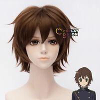 Seraph Of The End Yoichi Saotome Dark Brown Layered Short Anime Hair Cosplay Wig