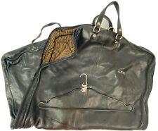 Rare T Anthony Soft Black Leather Mens Suit Garment Bag
