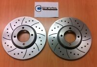 Ford Escort mk2 FRONT Drilled Grooved BRAKE DISCS