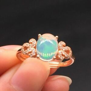 Natural Welo Opal S925 Sterling Silver Adjusted Ring Women Gifts Wedding 1Pc