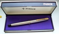 "PARKER "" 45 "" FLIGHTER DE LUXE ; in STEEL/GOLD; 14Kt GOLDNIB ! MADE IN ENGLAND !"