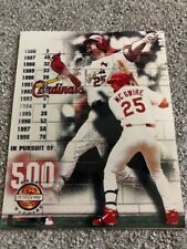 Cardinals Mark McGwire 8x10 Photo MLB Licensed Photo 500 Homerun Chase LE