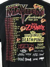 Rockstar Mayhem Festival 2013 T Shirt Rob Zombie Five Finger Death Punch Mens XL
