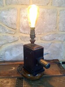 Antique Victorian Magic Lantern Projector Upcycled Steampunk Lamp Light,Unusual