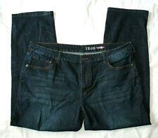 Izod Mens Comfort Stretch Jeans 42 X 32 Dark Wash Straight Leg