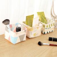 Desktop Storage Basket Cotton Linen Key Cosmetics Sundries Bag Pouch Organizer