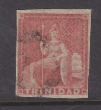 TRINIDAD 1855-60 1d DULL RED 4 MGNS SC 13A