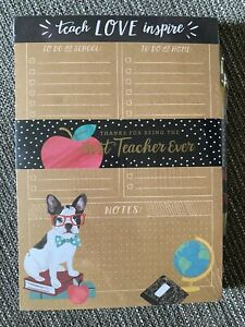 Clementine Paper Frenchie French Bulldog Best Teacher Ever Notepad