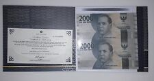 Indonesia 2000rp 2 in 1 Uncut Banknote 2016 UNC