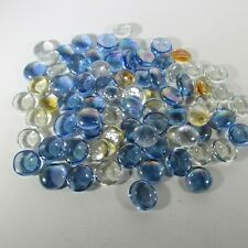 Glass Gems 3/4 in. (2 cm) Iridescent Flat Back Marbles 12 oz ~ USA