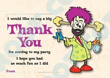 MAD SCIENCE Pack Of 10 THANK YOU CARDS Kids Children Birthday Party