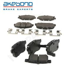 For Honda Accord 16-17 Pair Set of Front and Rear Disc Brake Pads Akebono