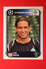 PANINI CHAMPIONS LEAGUE 2010/11 # 23 WERDER BREMEN WIESE BLACK BACK MINT!