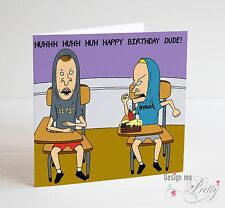 BEAVIS AND BUTTHEAD Birthday Card - Boyfriend Husband Brother Father Friend