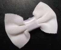 Vintage Bow Tie CLIP ON BOYS Retro Dickie Bowtie 1950s 1950s Off-White