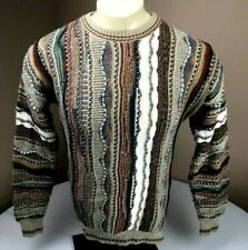 Roundtree &Yorke Multicolored Abstract Knit Sweater Size Large Coogi Vtg 90s
