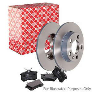 Fits BMW 3 Series E30 316 i Genuine Febi Front Solid Brake Disc & Pad Kit