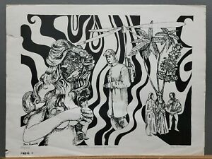 Famous WPA Artist Leo Russell S/N Lithograph Surrealistic 1960's 184/200
