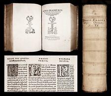 1541 ERASMUS NEW TESTAMENT GREEK & LATIN + ANNOTATIONS BIBLE Reformation FOLIO