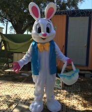 New deluxe Easter Bunny Rabbit Mascot Costume Fancy Dress Adult Size mothers day