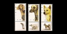 Israel 1987 International Dog Show - Saluki, Sloughie, Canaan #965-967 Tabs Mnh