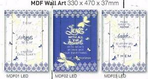 Blue Dragonflies LED Light Up Wall Art Choice of 1 or buy all 3 Lisa Pollock