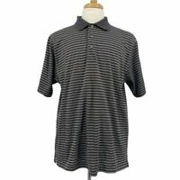 Jos.A.Bank | Sz Large Gray Striped Leadbetter Polo Shirt Short Sleeve