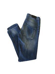 VOLCOM MENS SIZE W30 X L33 Slim Tapered BLUE JEANS FREE POST