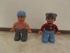 Lego Duplo Pirate Captain Men People Figure Lego Ville Lot Set