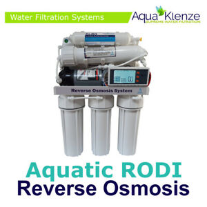 5 Stage 100GPD RODI - Pumped - LCD Computer - AutoFlush -Reverse Osmosis System