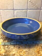 Vintage Blue Pottery Planter Dish 8� Marked 8