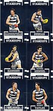 2017 Select Footy Stars Standups GEELONG 6 Card Set