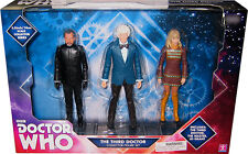 "Doctor Who 5"" 3rd Dr, Jo Grant, and the Master Action Figures lot Exclusive Set"