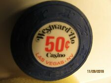New listing Westward Ho Casino-Las Vegas, Nv.- 50 Cent Casino Chip-Closed Casino- mint