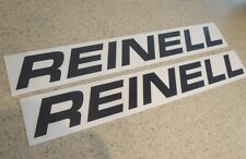 """Reinell Vintage Boat Decals 18"""" Black 2-pak FREE SHIP + FREE Fish Decal!"""