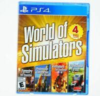 World of Simulators Ultimate Edition (Playstation 4, 2019) - FAST SHIPPING