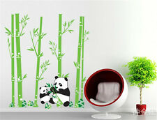 Panda bamboo Home Room Decor Removable Wall Stickers Decal Decorations