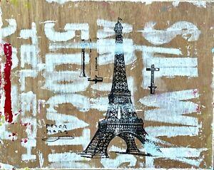 Peter Mars Art on Wood, Paris, Eiffel Tower, Romance, Selfies, History