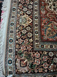 100% Silk On Silk Hand Knotted Persian Rug