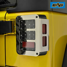 Eag Chrome Tail Light Guard Tail Lamp Cover Rear Fits 07 18 Jeep Wrangler Jk Fits Jeep