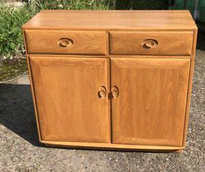 FINE  RARE  MODERN ERCOL HIGHBOARD SIDEBOARD MINT CONDITIO -  DELIVERY AVAILABLE