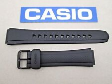 Genuine Casio Tough Solar AW-S90 black resin rubber watch band strap 18mm lug