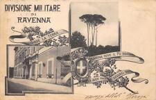 2503) DIVISIONE MILITARE DI RAVENNA 2 VEDUTINE VIAGGIATA NEL 1904.